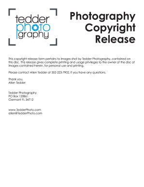 Copyright Release Form | 19 Printable Copyright Release Form For Photographers Pdf Templates