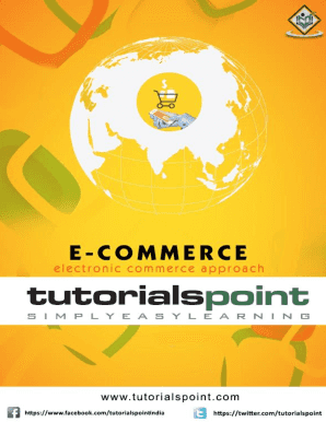 Fillable Online E Commerce Tutorial In Pdf Tutorialspoint Fax