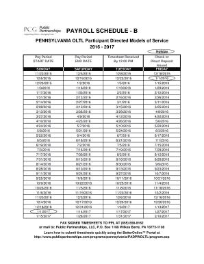 public partnerships payroll schedule b Fillable Online payroll schedule - b - PCG Public Partnerships Fax ...