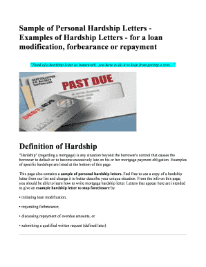 Fillable online sample of personal hardship letters examples of fill online spiritdancerdesigns Choice Image