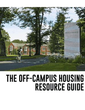 THE OFF-CAMPUS HOUSING RESOURCE GUIDE - Reed ... - reed