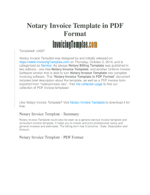 Notary Invoice Template in PDF Format - InvoicingTemplate.com