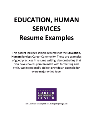 education human services resume examples fill online printable