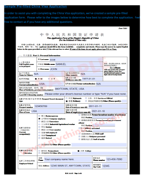 400431702 Visa Application Form China The Hague on