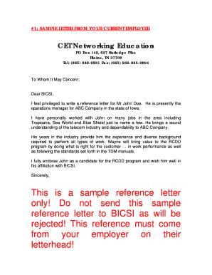 Fillable online sample reference letters cet networking education fill online spiritdancerdesigns Images