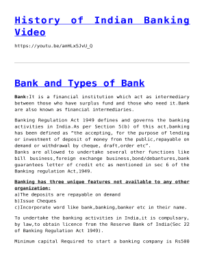 Fillable Online studyregular History of Indian Banking Video