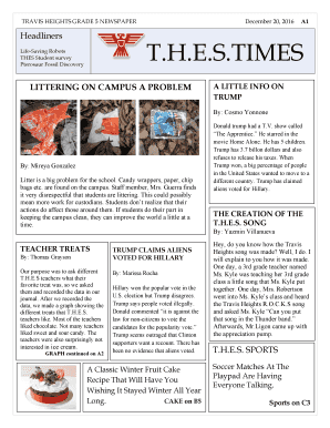 Blank Newspaper Template For Word from www.pdffiller.com
