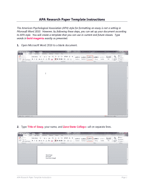 19 printable apa template download forms fillable samples in pdf