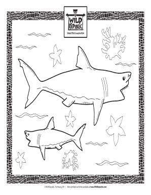 Fillable Online Shark Coloring Page Free Printable Coloring Page Wild Republic Fax Email Print Pdffiller