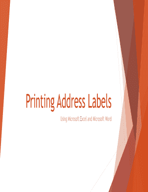 Printing Address Labels PDF - Red Penguin Web Solutions