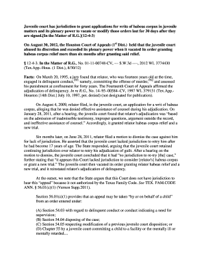 writ of habeas corpus quizlet - Editable, Fillable