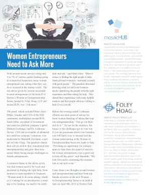 Women in Entrepreneurship Series Recap. Entrepreneurial Women Series Kick Off