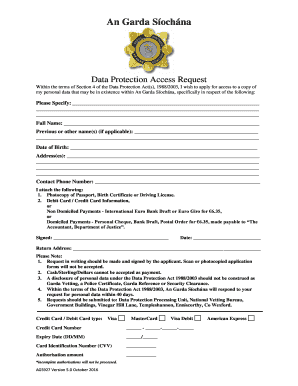 Data Protection Access Request Form - Garda.ie