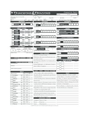 picture relating to Dungeons and Dragons Printable Character Sheet named Dungeons amp; Dragons Fillable 4th Variation Individuality Sheet