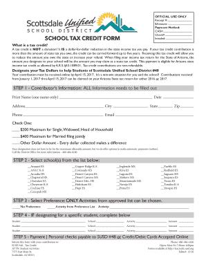 Fillable Online SCHOOL TAX CREDIT FORM - concrete.susd.org Fax ...