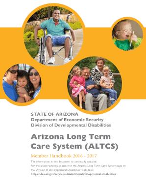 Fillable Online Arizona Long Term Care System (ALTCS) - des.az.gov ...