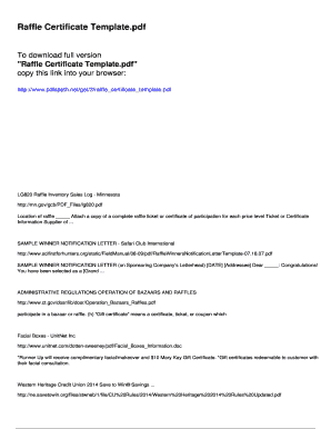 Fillable raffle winner announcement template download raffle certificate template pdfslibforyou spiritdancerdesigns Gallery