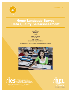 Home Language Survey Data Quality Self-Assessment - Institute of ... - ies ed