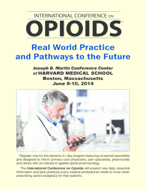 Fillable Online opioidconference Joseph B  Martin Conference