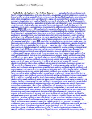 sample job application form word document