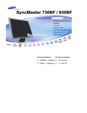 fillable online samsung syncmaster 730bf monitor user guide manual rh pdffiller com Straight Talk Samsung Phones Manual Samsung UN32EH4000F