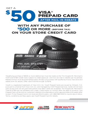 Merchants Tire Credit Card >> Fillable Online visa prepaid card - ACB Incentives Fax Email Print - PDFfiller