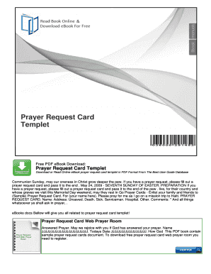 fillable online free prayer request cards templates searchncall