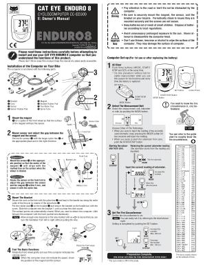Cateye enduro 8 инструкция.