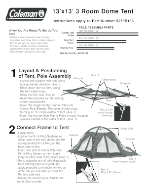 Fillable Online 9270B133 3-Room Dome Tent. 9270B133 3-Room Dome Tent Fax Email Print - PDFfiller  sc 1 st  PDFfiller & Fillable Online 9270B133 3-Room Dome Tent. 9270B133 3-Room Dome Tent ...