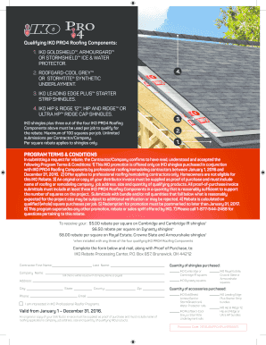 Fillable Online Qualifying Iko Pro4 Roofing Components 1 East Coast Lumber Fax Email Print Pdffiller