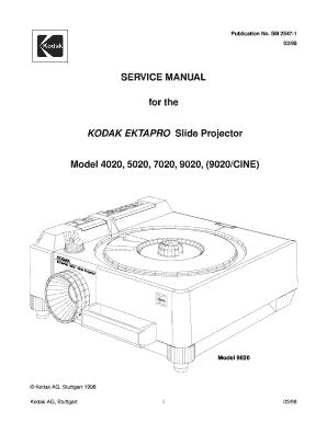 fillable online service manual for the kodak ektapro slide projector rh pdffiller com Optical Projector Film Projector Manual