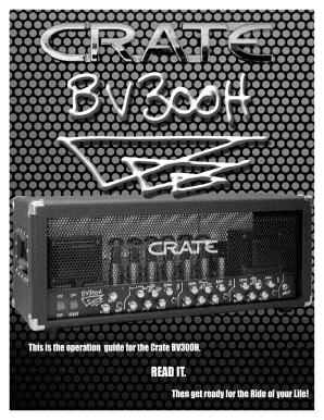 fillable online this is the operation guide for the crate bv300h fax rh pdffiller com Louvre Audio Guide Museum Audio