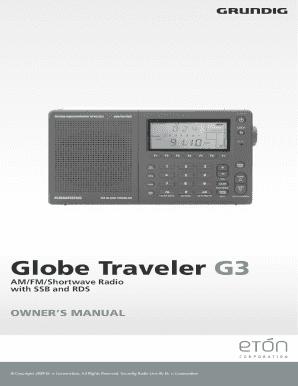 Fillable Online Globe Traveler G3 - Eton Fax Email Print