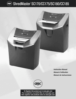 Gbc shredmaster cc195 manual.