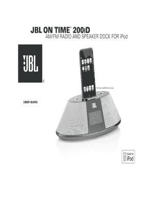 fillable online jbl on time 200id fax email print pdffiller rh pdffiller com JBL Clock Radios JBL Logo