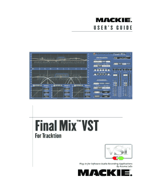 fillable online final mix vst for tracktion user s guide mackie rh pdffiller com Example User Guide mackie profx12 user guide