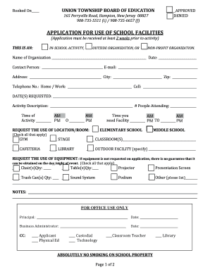 Facility usage form revised 4 21 16 fill online printable 1st thecheapjerseys Gallery