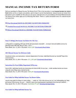 fillable online manual income tax return form manualspath com fax rh pdffiller com manual income tax return form manual income tax return form ay 2013-14