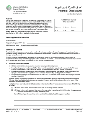 Submit conflict of interest disclosure template samples in pdf applicant conflict of interest disclosure form this form is to be used as a maxwellsz
