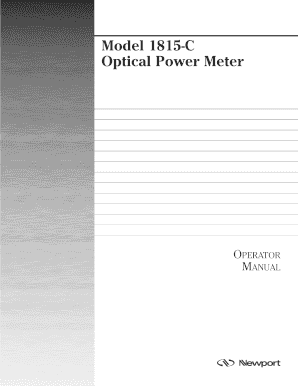 Model 1815-C Optical Power Meter - Newport Corporation
