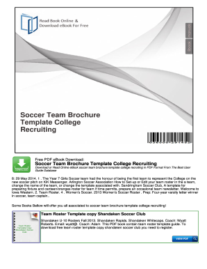 Free brochure template downloads forms fillable for Recruiting brochure template