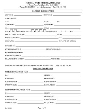 Editable demographic medical form - Fill, Print & Download