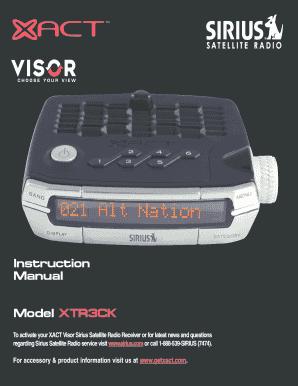 fillable online xtr3 manual qxd fax email print pdffiller rh pdffiller com Sirius Xact Box Sirius SV1
