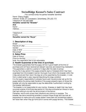 Swissridge Kennels Reviews Fill Online Printable