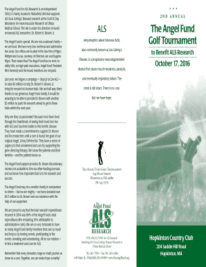 AF.2016 Golf Tournment Brochure - The Angel Fund - theangelfund