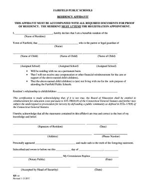 Fps residency affidavit resident 2017 fill online printable preview of sample undersigned form rating altavistaventures Image collections