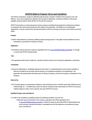 Printable sales lead referral agreement Templates to Submit in PDF