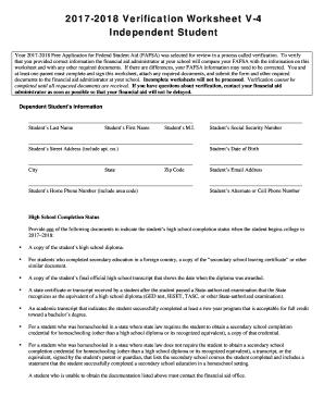fillable online williamwoods 2017 2018 verification worksheet v 4 williamwoods fax email print. Black Bedroom Furniture Sets. Home Design Ideas