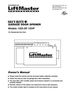 Chamberlain liftmaster 41a5483b receiver logic board assembly.