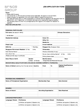 blank job application form word document